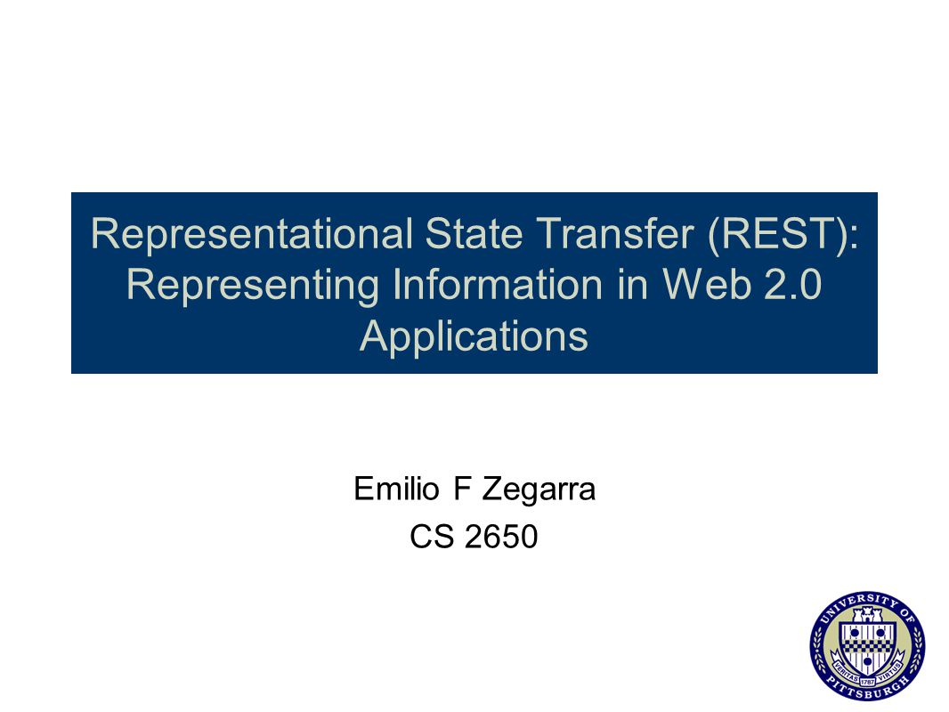 Representational State Transfer (REST): Representing Information in Web 2.0 Applications