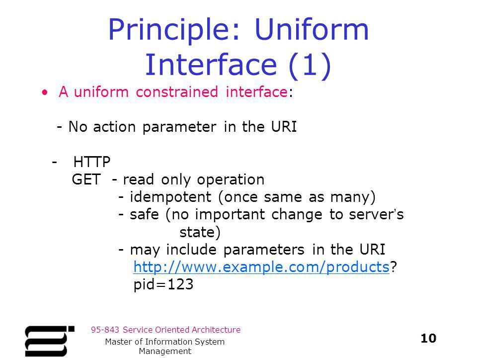 Principle: Uniform Interface (1)