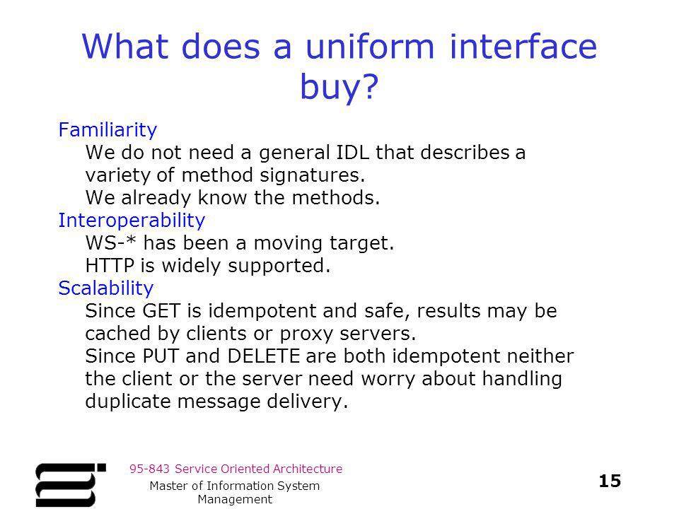 What does a uniform interface buy