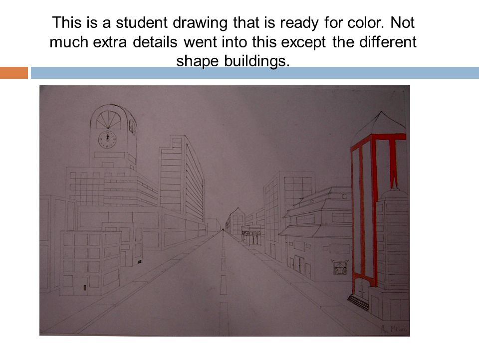 This is a student drawing that is ready for color