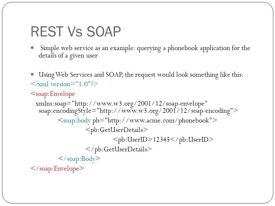 Rest Vs. Soap. - Ppt Video Online Download