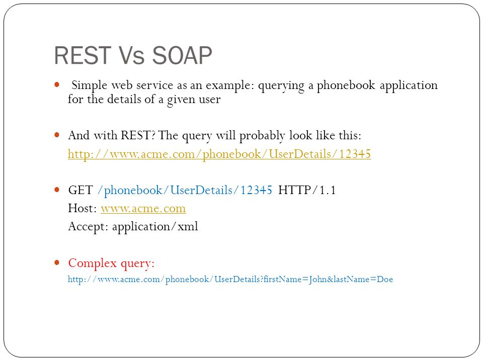 Rest Vs Soap  Ppt Video Online Download
