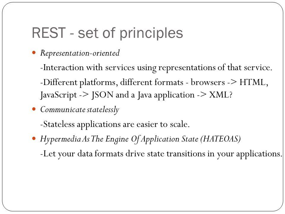 REST - set of principles