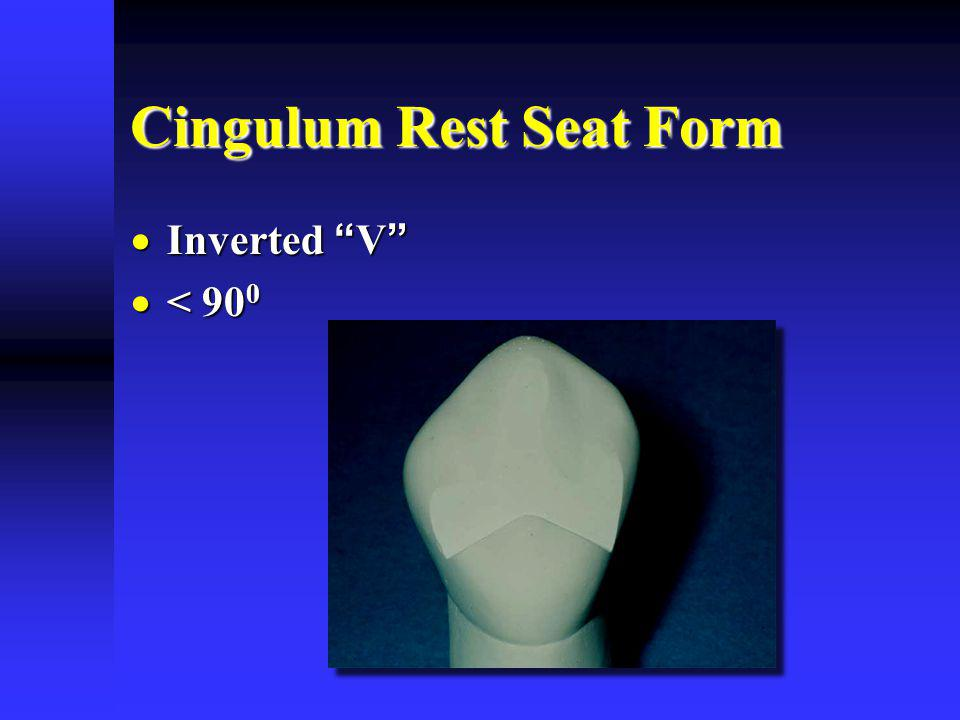 Cingulum Rest Seat Form