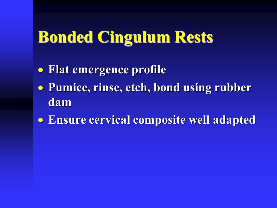 Bonded Cingulum Rests Flat emergence profile