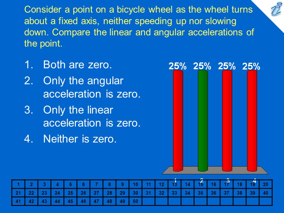 Only the angular acceleration is zero.