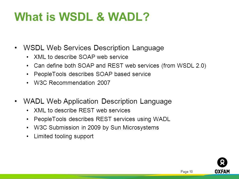 What is WSDL & WADL WSDL Web Services Description Language