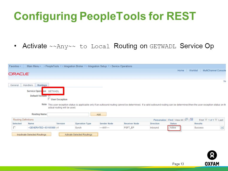 Configuring PeopleTools for REST