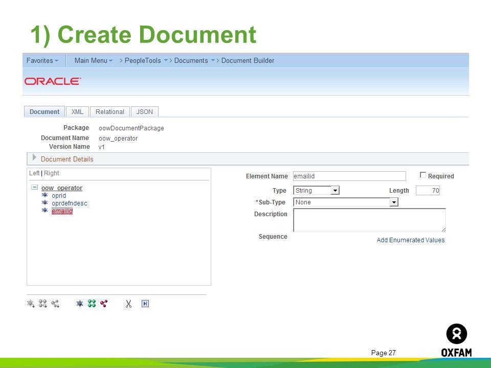 1) Create Document