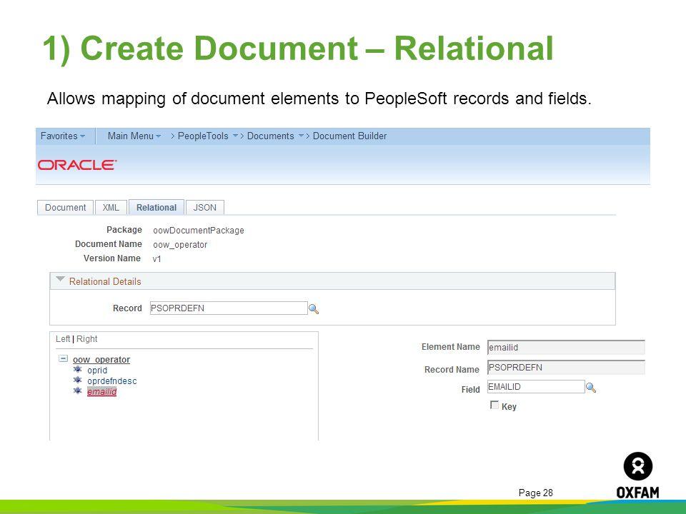 1) Create Document – Relational
