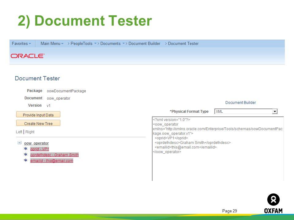 2) Document Tester
