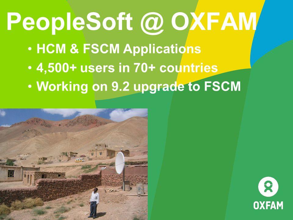 PeopleSoft @ OXFAM HCM & FSCM Applications