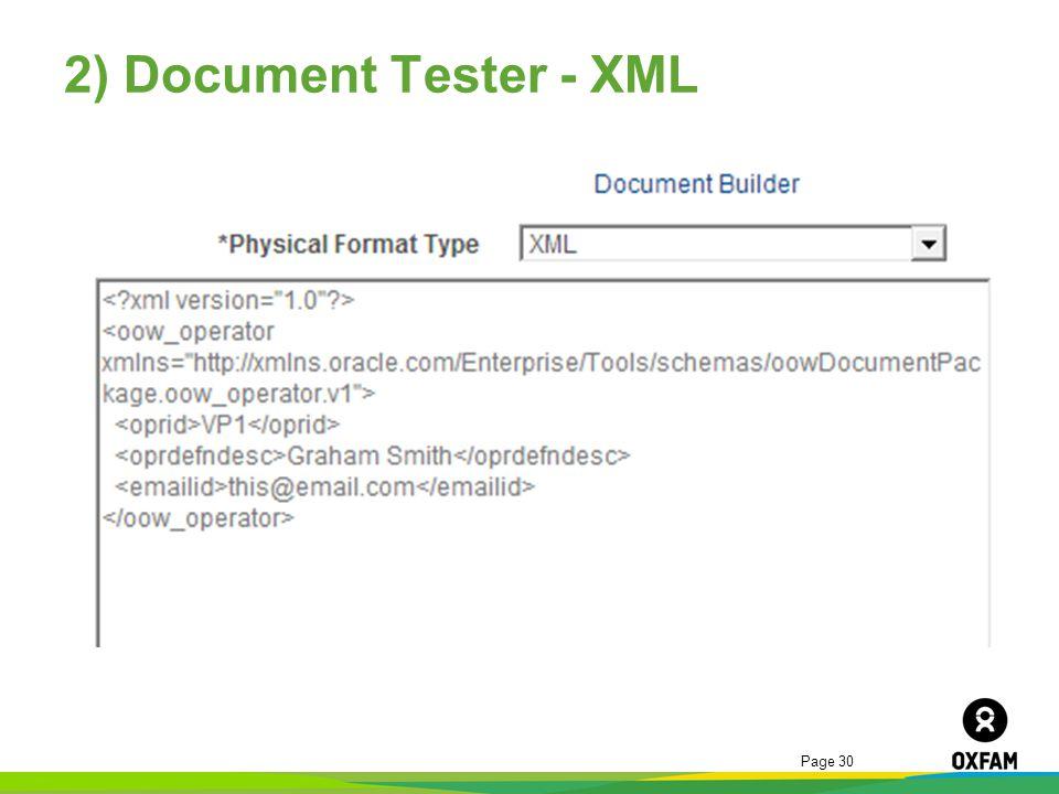 2) Document Tester - XML