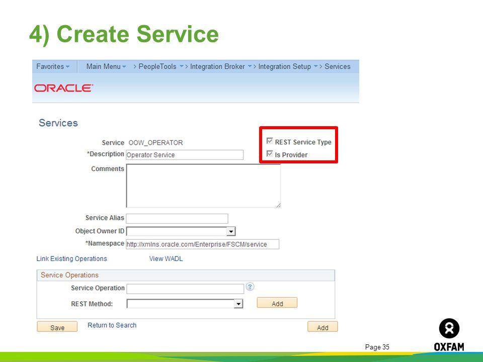 4) Create Service