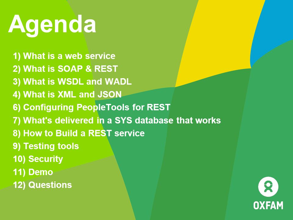 Agenda 1) What is a web service 2) What is SOAP & REST