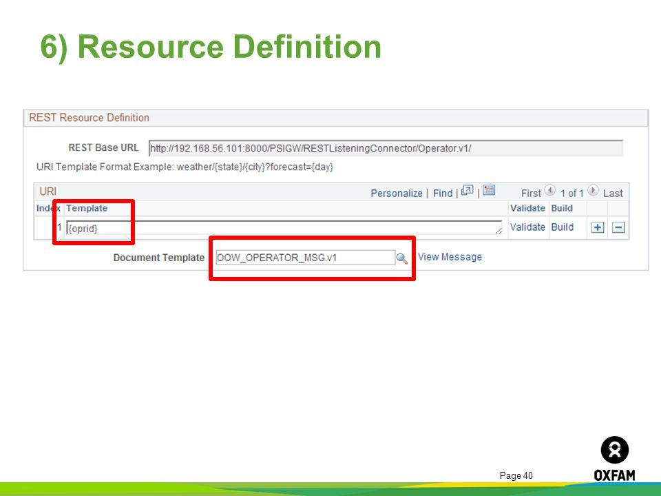 6) Resource Definition