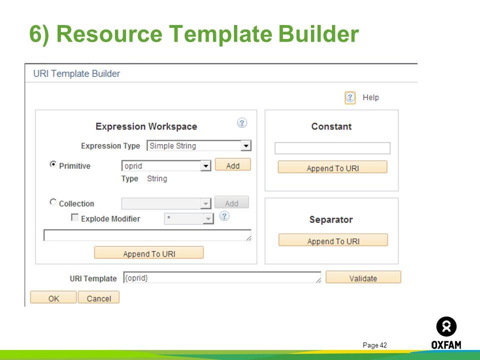 6) Resource Template Builder