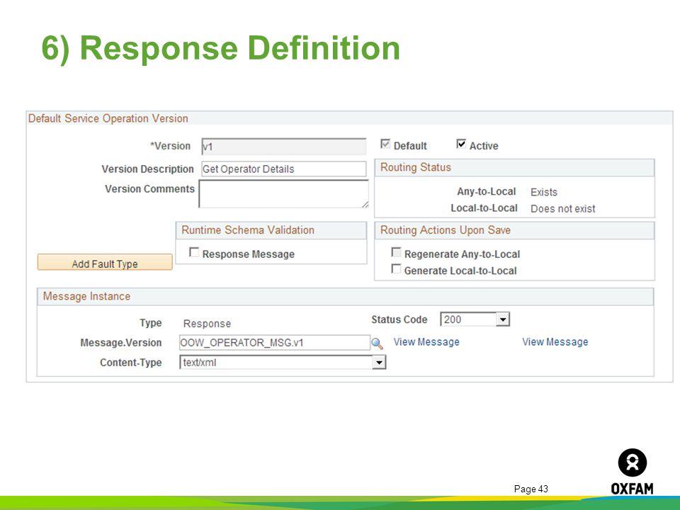 6) Response Definition