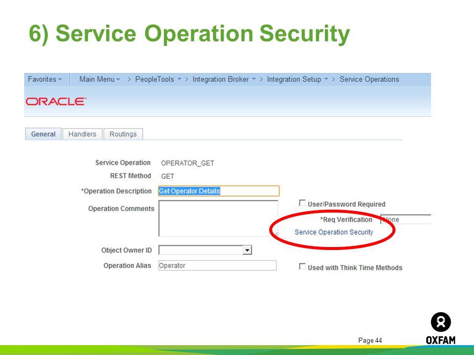 6) Service Operation Security