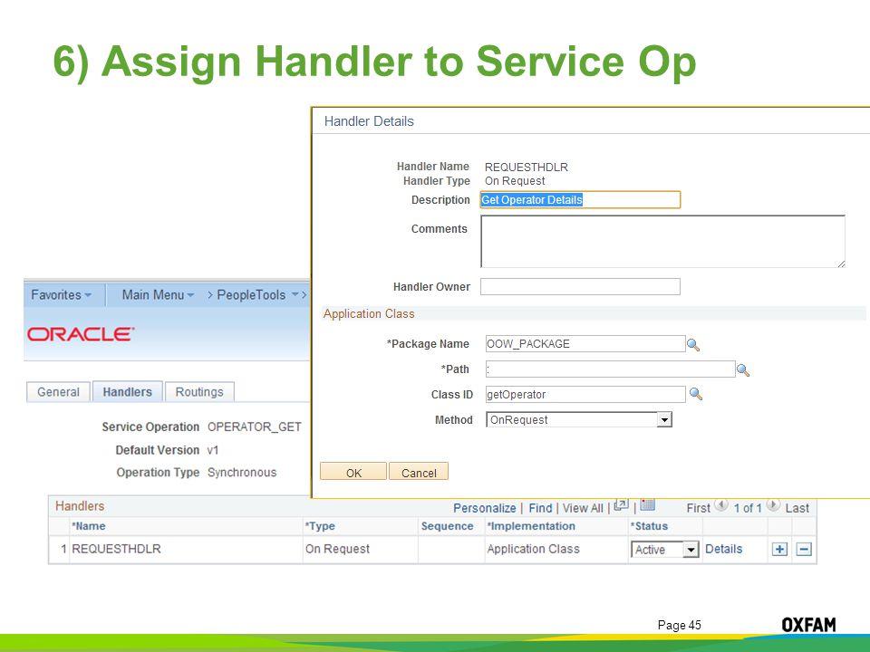 6) Assign Handler to Service Op