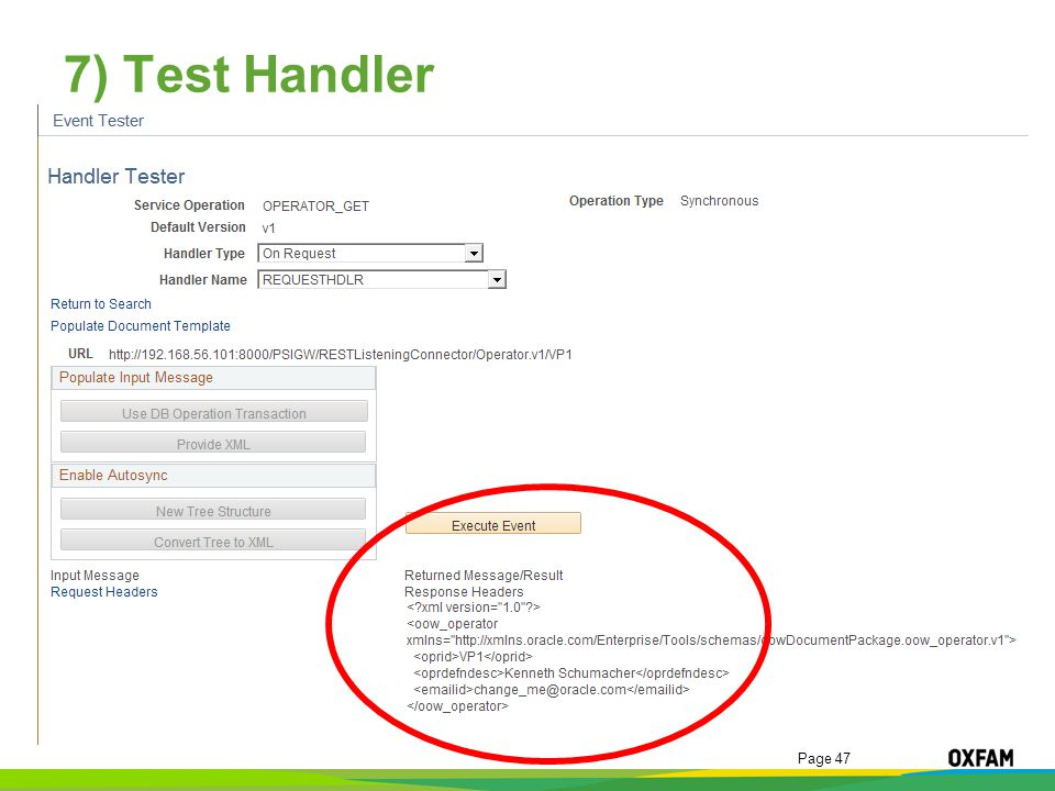 7) Test Handler