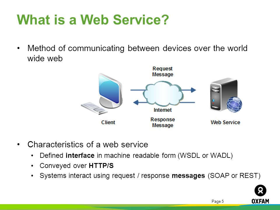 What is a Web Service Method of communicating between devices over the world wide web. Characteristics of a web service.