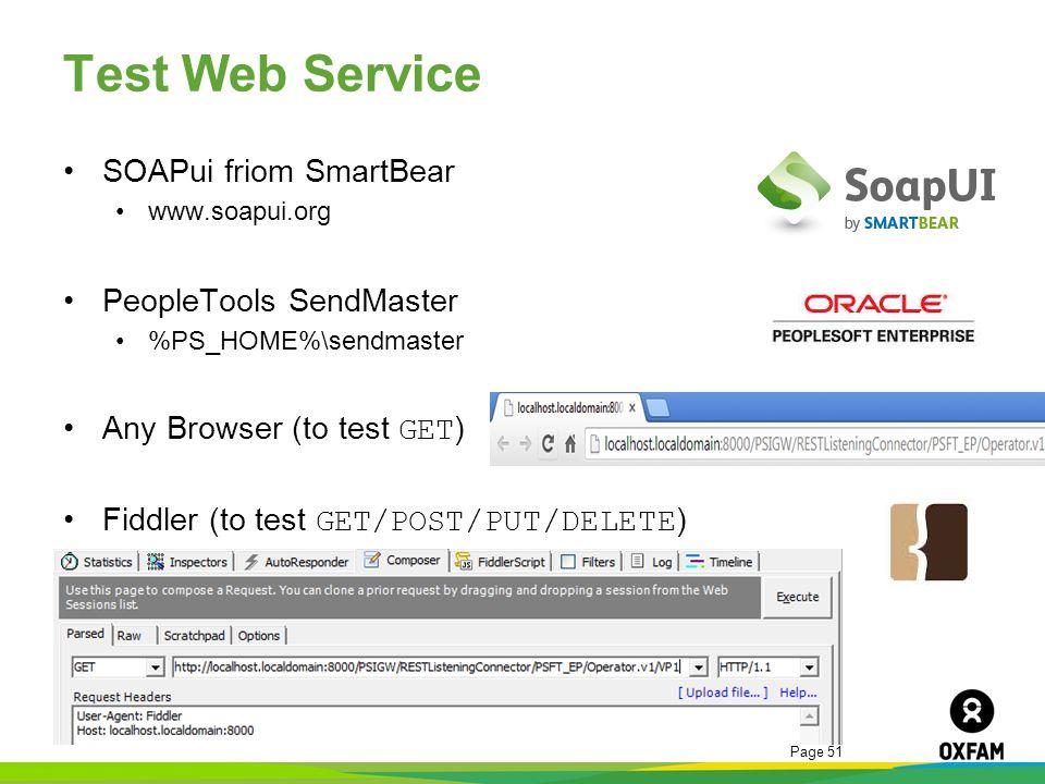 Test Web Service SOAPui friom SmartBear PeopleTools SendMaster