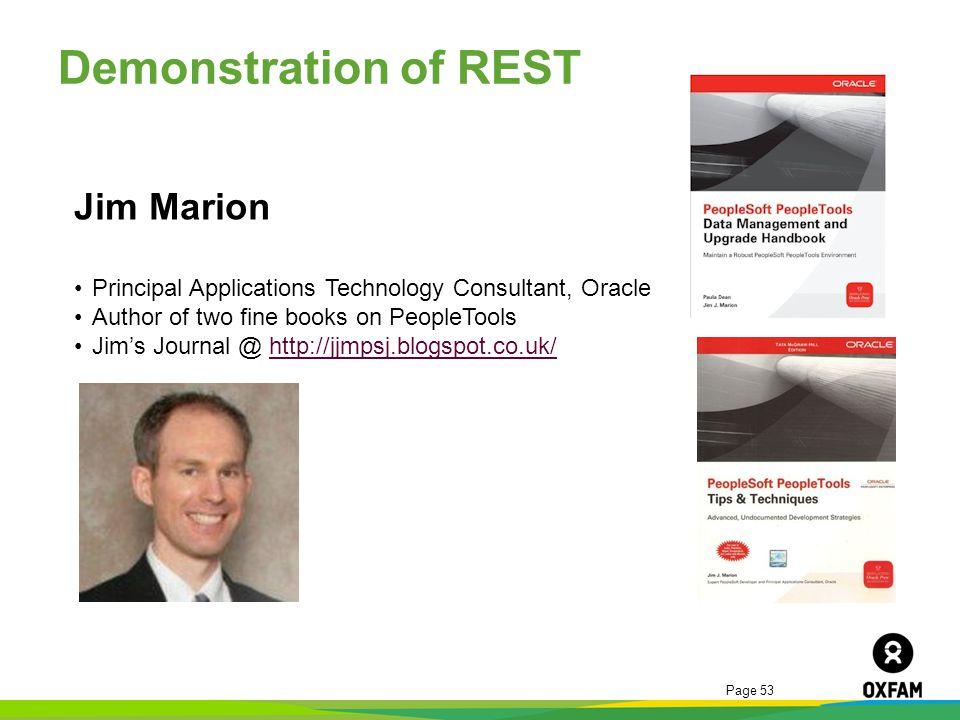 Demonstration of REST Jim Marion
