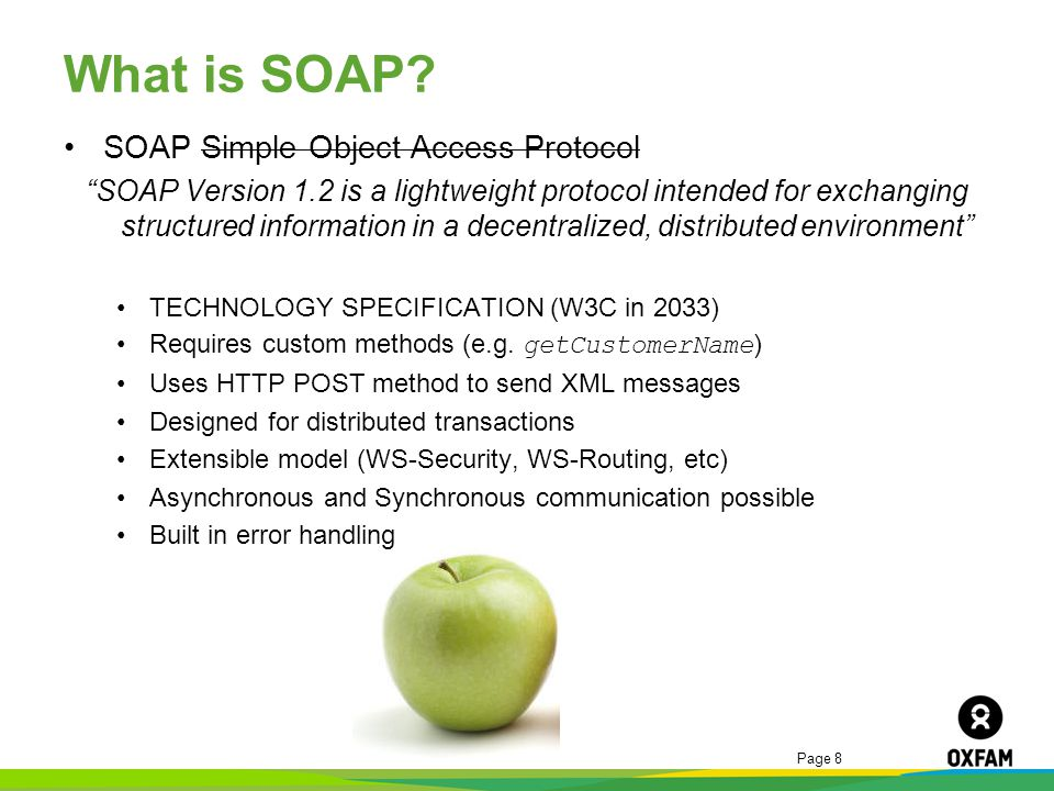 What is SOAP SOAP Simple Object Access Protocol