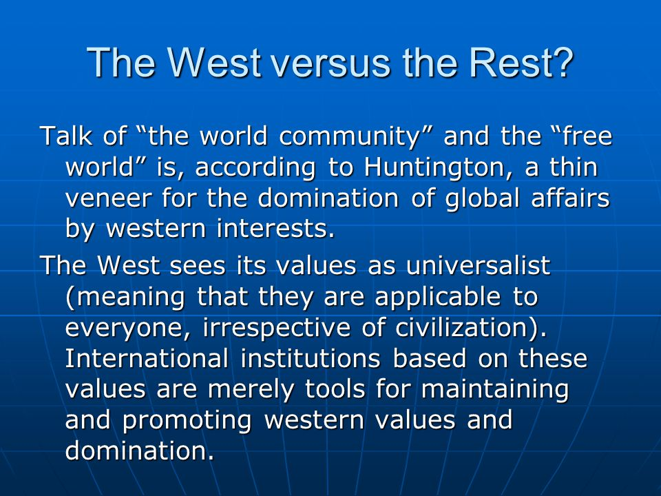 The west and the rest anthropology