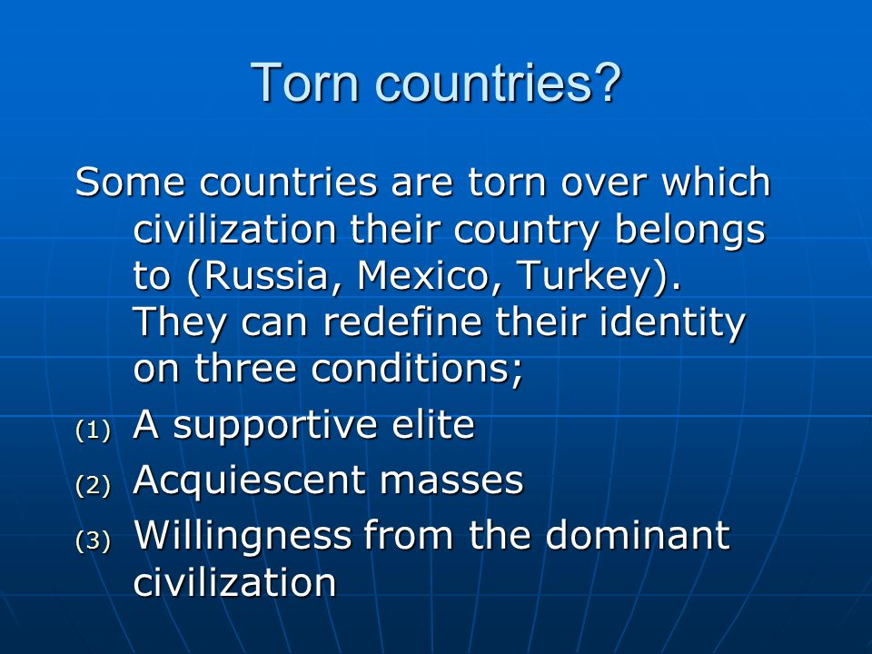 Torn countries