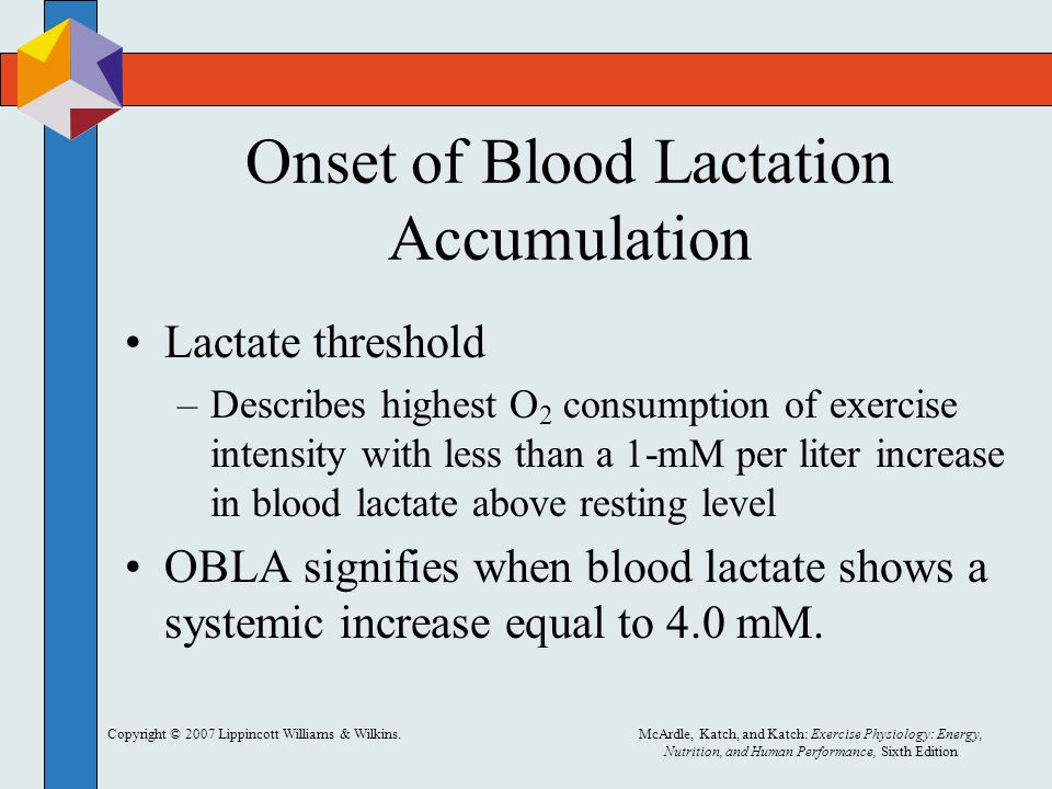 Onset of Blood Lactation Accumulation