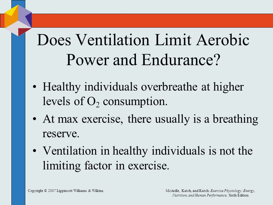 Does Ventilation Limit Aerobic Power and Endurance