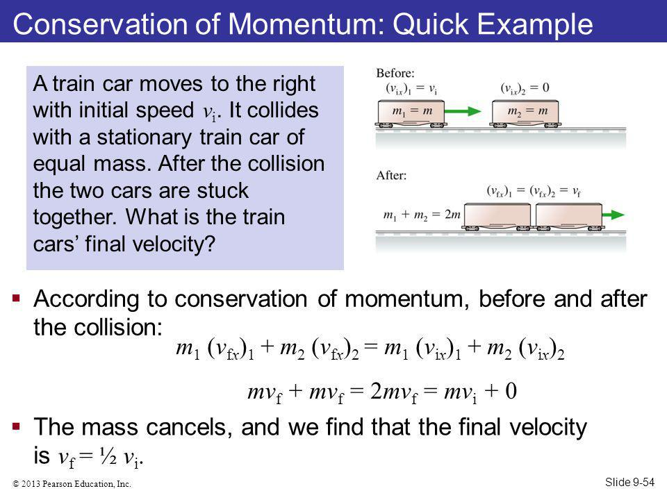 Conservation of Momentum: Quick Example