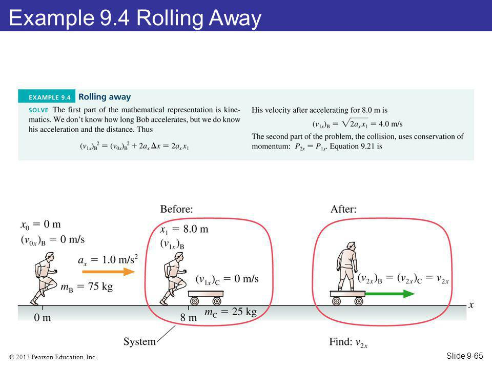 Example 9.4 Rolling Away Slide 9-65