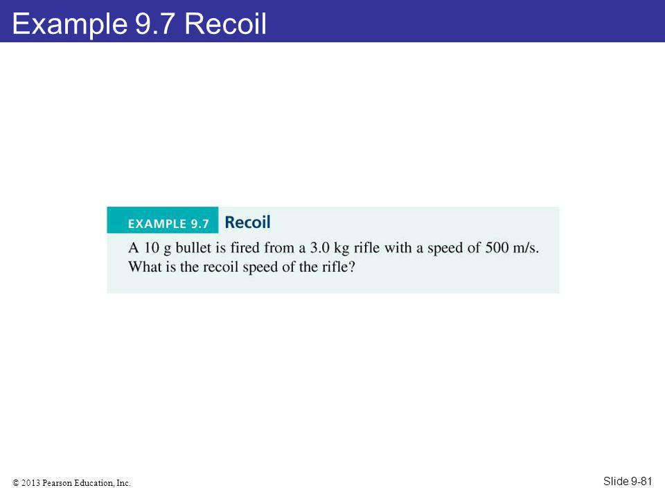 Example 9.7 Recoil Slide 9-81