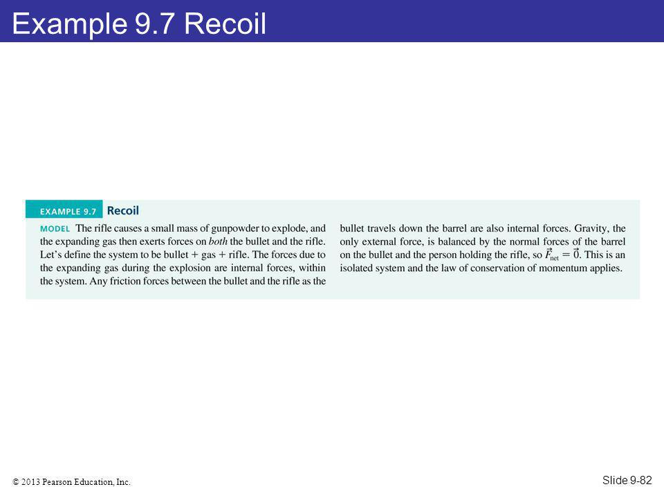 Example 9.7 Recoil Slide 9-82