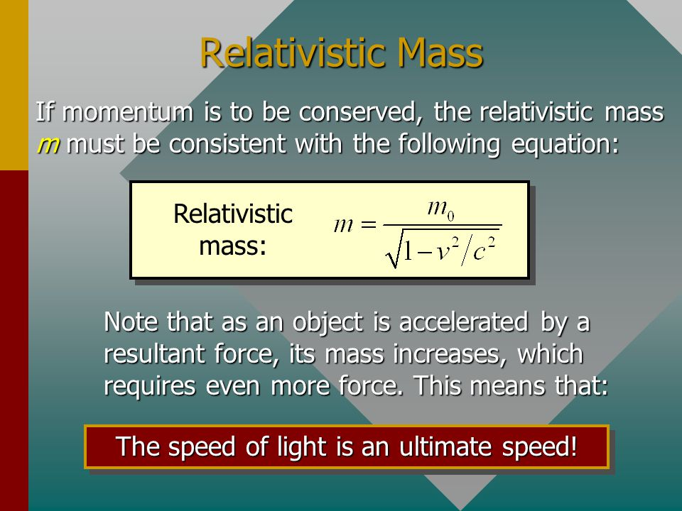 The speed of light is an ultimate speed!