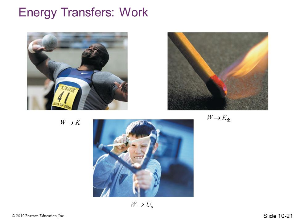 Energy Transfers: Work