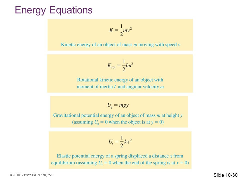 Energy Equations Slide 10-30