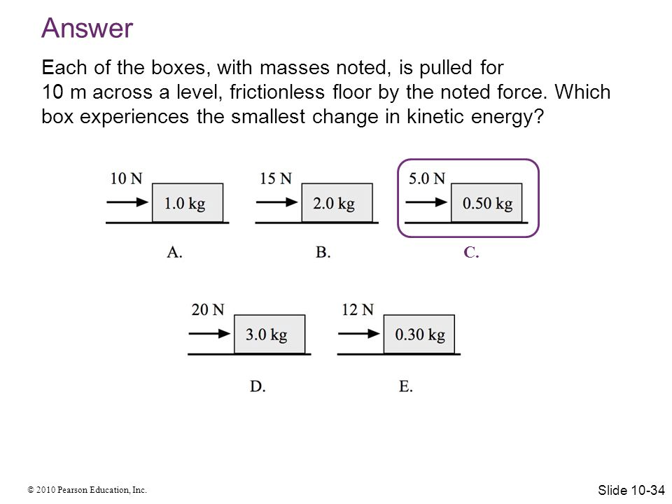 Answer Each of the boxes, with masses noted, is pulled for