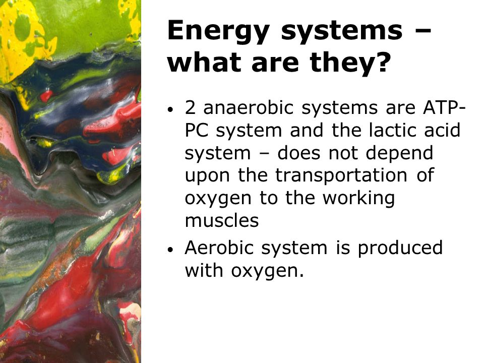 Energy systems – what are they