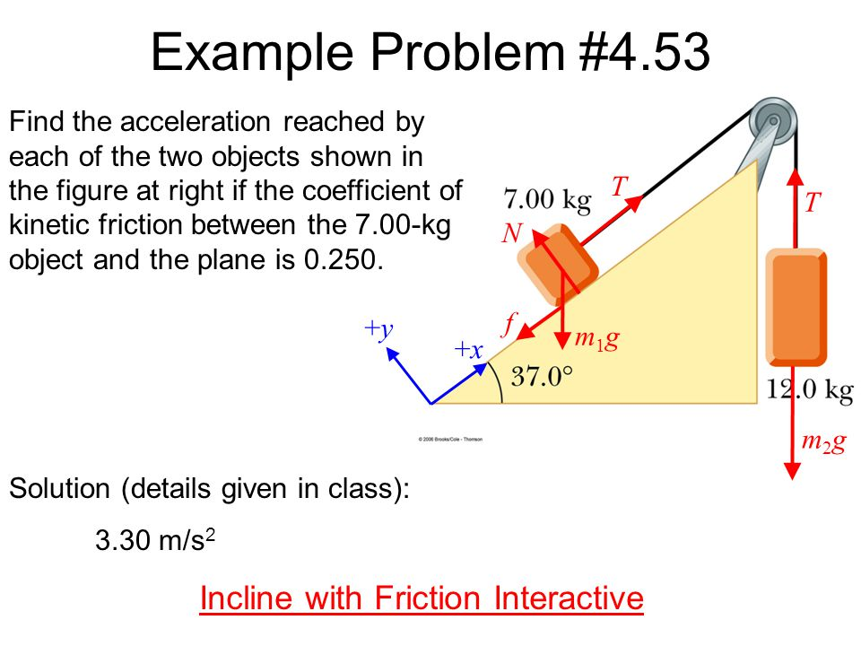 Incline with Friction Interactive