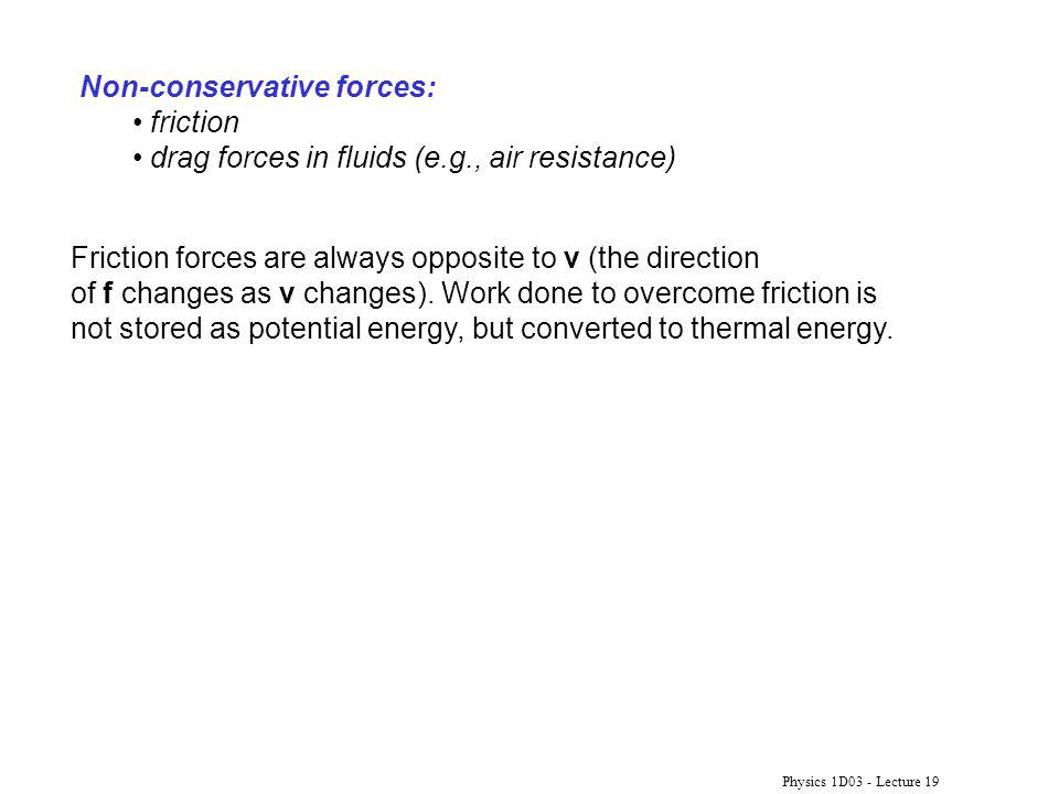 Non-conservative forces: friction