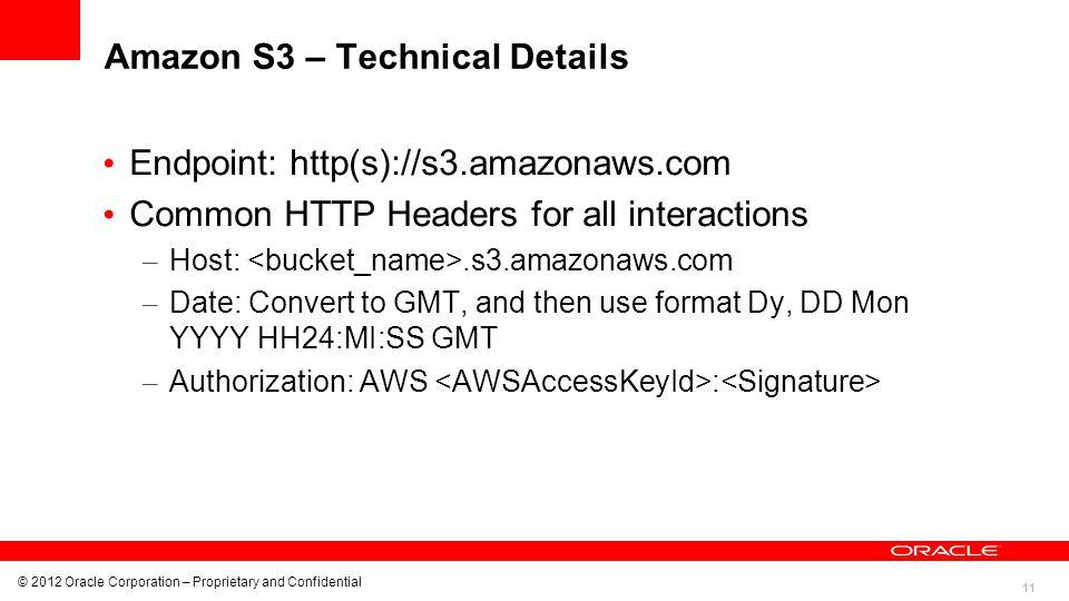 Amazon S3 – Technical Details