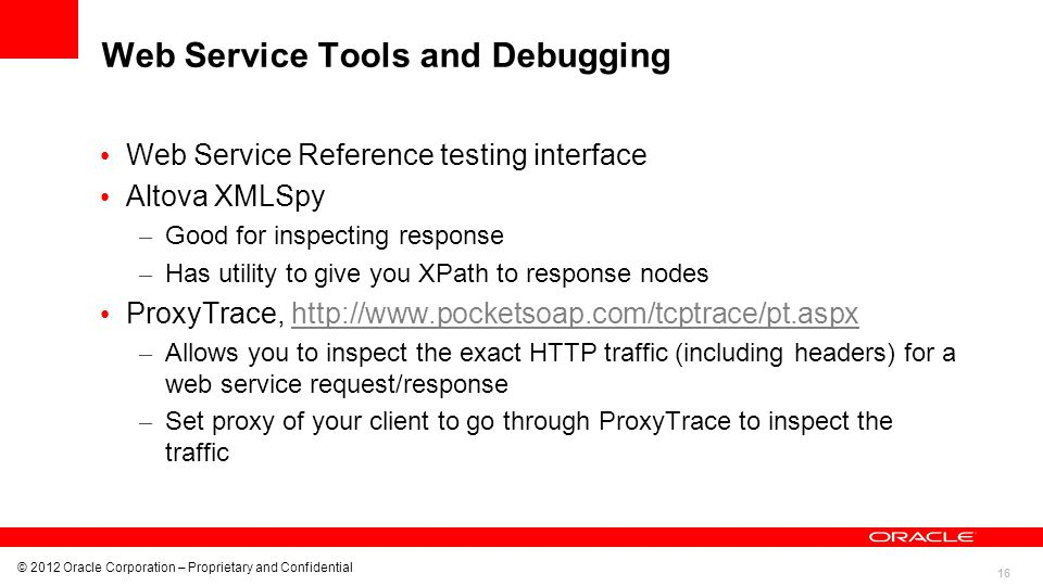 Web Service Tools and Debugging