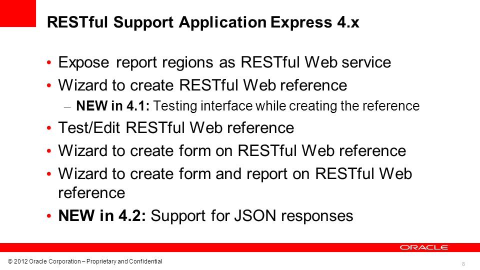 RESTful Support Application Express 4.x