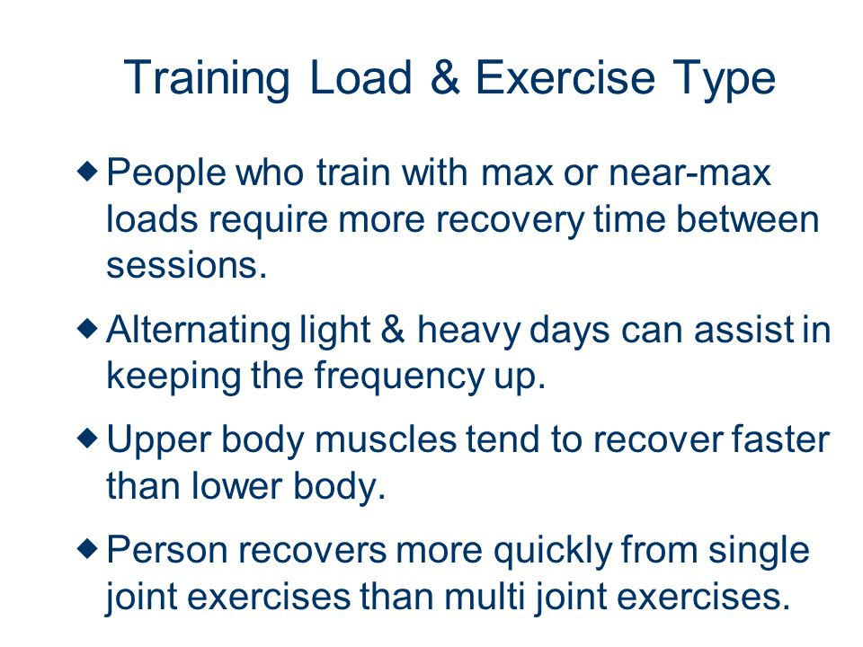 Training Load & Exercise Type