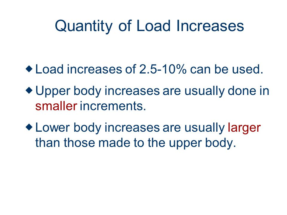 Quantity of Load Increases