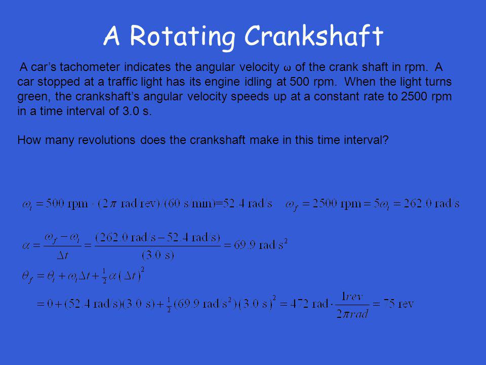 A Rotating Crankshaft